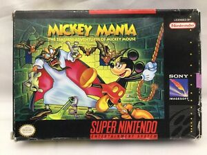 Details about Super Nintendo SNES ~ Mickey Mania