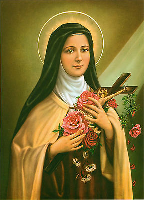 Catholic Print Picture ST. THERESE Teresa Little Flower - ready to be framed