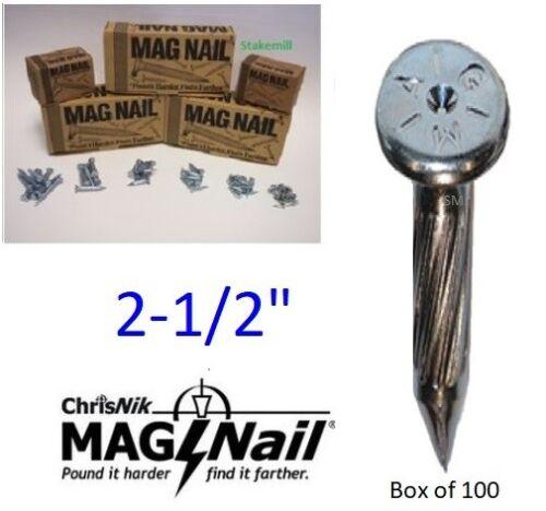 """2-1//2/"""" X 1//4/"""" ~ 100 par boîte Chrisnik magnails sondage 242500 MAG Clous"""