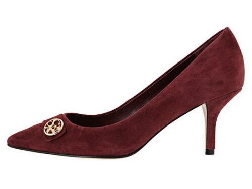 New COACH Zelda Women/'s Suede Heel Shoes