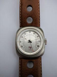 LIP-70s-Revival-1870262-Race-Analogue-24-Hour-Movement-Men-039-s-Watch