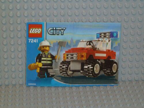 LEGO ® City de recette 7241 FIRE CAR ungelocht instruction b4935