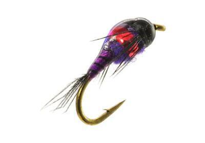 Two Bit Hooker Nymph Black Fishing Fly Double Tungsten Bead Fly Umpqua