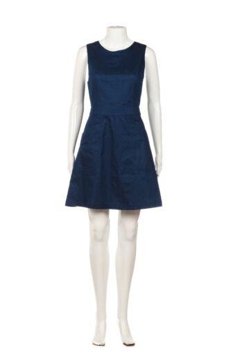 LUSH Mini Dress Medium Blue Apron Cut Out Back Zi… - image 1