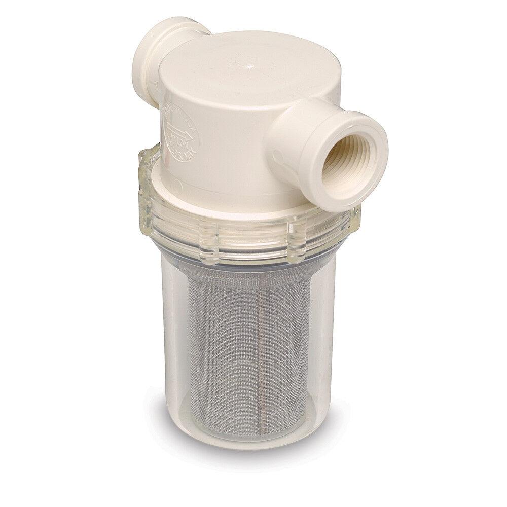 SHURFLO 1 2  Raw Water Strainer - 50 Mesh Screen