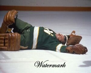 NHL-1970-039-s-Gump-Lorne-Worsley-Game-Action-Down-amp-Out-Color-8-X-10-Photo-Picture