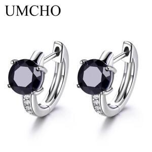 Sapphire-Earrings-For-Women-100-Real-925-Sterling-Silver-Earrings-Female