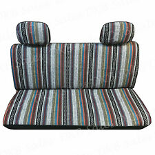 4 Pc Brand New Universal Baja Inca Saddle Mexican Blanket Bench Truck Seat Cover