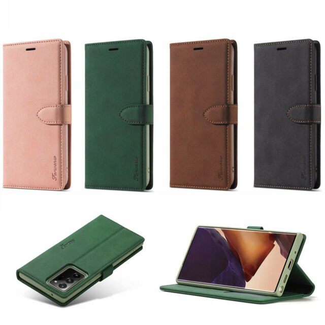 Luxus Flip PU Leather Wallet Case For iPhone 11 12 Samsung Note 20 Redmi Note 9S