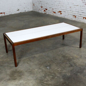 Image Is Loading Knoll Walnut And White Laminate Lewis Butler Coffee