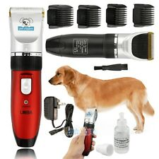 Professional Pet Dog Hair Grooming Cordless Electric Quiet Trimmer Clippers +Oil
