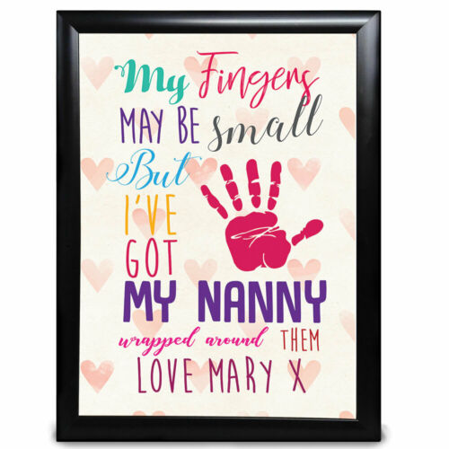 My Fingers May Be Small Custom Grandad Gifts Birthday Father s Day Him Print