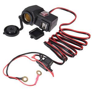 Waterproof-Motorcycle-Motorbike-Dual-USB-Charger-Adapter-Phone-GPS-Power-Socket