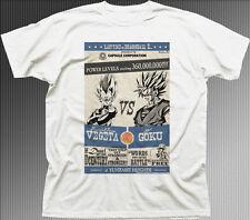 DBZ dragonball z vegeta VS GOKU ANIME MANGA BIANCA COTONE T-SHIRT STAMPATA 9930