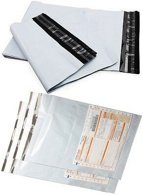 """Tamper Proof 8"""" x 10"""" Plastic Courier Poly Bags With Pocket Set Of 100 Bags"""