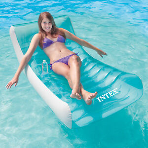 intex 188x99cm schwimmliege f r pool lounge wasserliege badeinsel luftmatratze ebay. Black Bedroom Furniture Sets. Home Design Ideas
