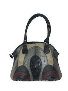Varon Structured Satchel Handbag Exotic