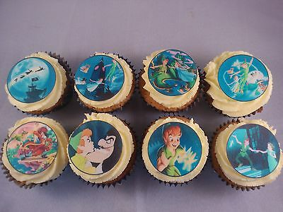 24 Peter Pan Wafer Discs *Fun & Fab* Edible Cupcake Toppers