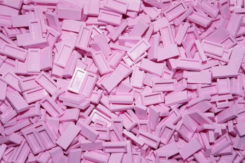 LEGO BRICKS 100 x LIGHT PINK FLAT TILES 1 x 2 No 3069  lego city,friends,elves