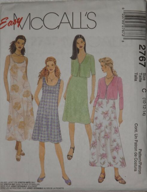 21a6abcc71 McCall s 2767 Sewing Pattern Misses  Unlined Jacket and Dress in Sizes ...