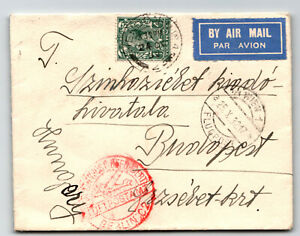Great-Britain-1932-Airmail-Cover-to-Hungary-Luft-Hansa-Z13774