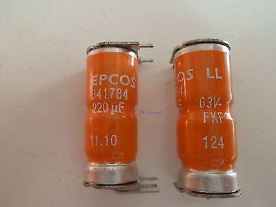 EPCOS Sikorel B41784 LL FKF 220µF 63V 125°C *Neu*