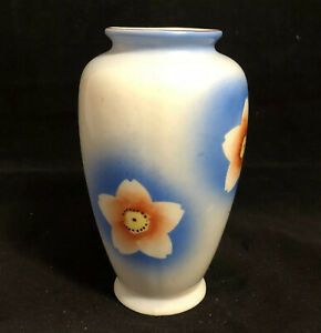 Vintage-Porcelain-Bud-Vase-Mid-Century-Modern-w-Cherry-Blossoms-Made-in-Japan