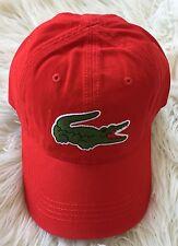 SALE! BRAND NEW LACOSTE MEN'S BIG CROC GABARDINE BASEBALL ADJUSTABLE HAT CAP