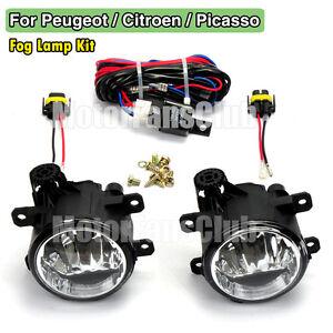 Fog Lamp Light For Peugeot 207 307 408 Citroen C4 C5