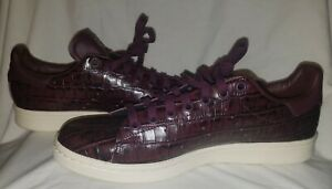 lowest discount hot products 100% high quality Details about adidas Stan Smith's Alligator pattern mens US8,EUR 42, Dark  Burgundy Red/unisex