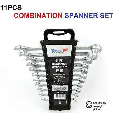 11PC pièce combinaison spanner set 6,7,8,9,10,11,12,13,14,17,19mm nickel plaqué
