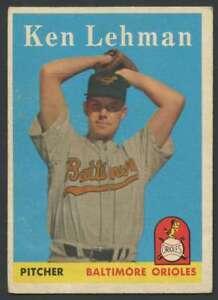 1958-Topps-141-Ken-Lehman-EX-EX-Orioles-29241