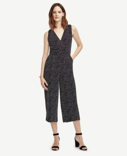 Taylor Dotted Size Sleeveless Ann 179 Black 14 l Jumpsuit h 00 dXw1pq