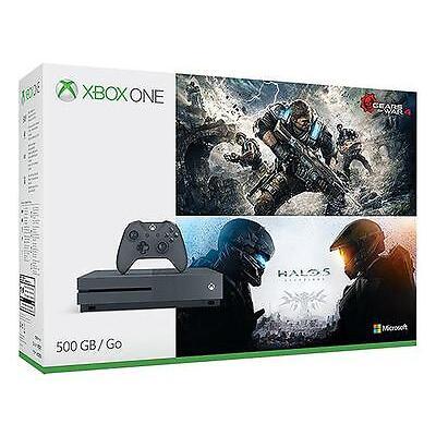 Xbox One S 500GB Gears & Halo Special Edition Bundle