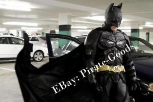 DARK-KNIGHT-RISES-BATMAN-costume-CAPE-black-felt-velvet