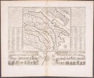 Details about Chatelain - Map of Italy - Roman Empire, Augustus Cesar -  1718 Atlas Historique