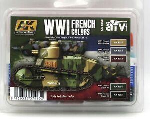 AK-Interactive-AK4050-WWI-French-Colors-AFV-Series-Acrylic-Paint-Set-Tanks-NIB