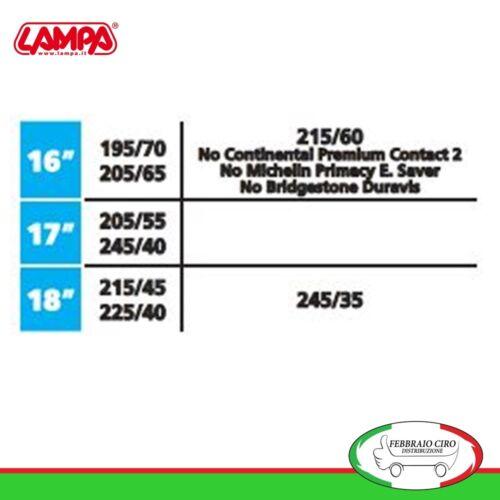 Catene da neve 195//70r16 195//70-16 7mm Lampa RX-7 Omologate Gruppo 9,7-16391