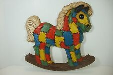 Foam Craft Quilted Look Rocking Horse Wall Hanging 1979 Nursery Decor