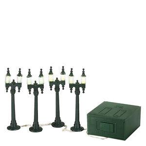 Image Is Loading Dept 56 VILLAGE DOUBLE STREET LAMPS 59960 Set