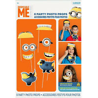 Despicable Me Photo Props (8) Birthday Party Supplies Decorations Minions Game