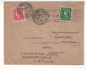 1952-Great-Britain-KGVI-QEII-Redirected-to-Kurunegala-Ceylon-SCARCE-Destination