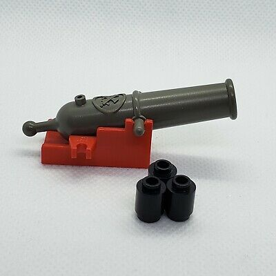 4x LEGO Classic Old Dark Gray Cannon NON-SHOOTING Weapon Western Pirate #518