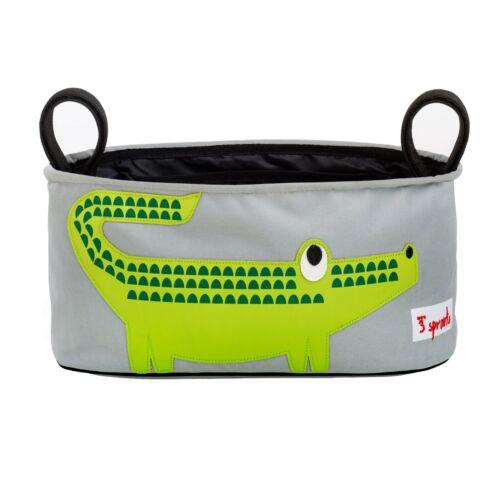 3 sprouts Kinderwagentasche Kinderwagen Organizer Krokodil