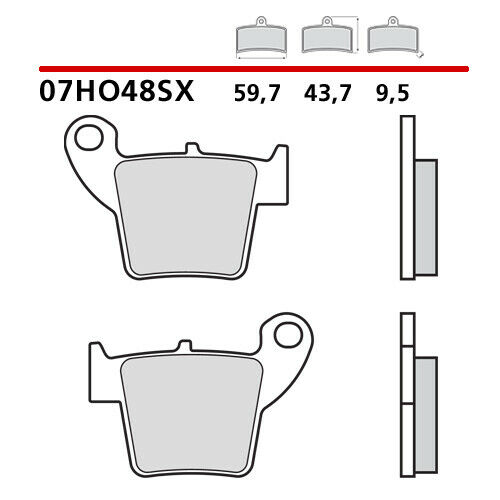 07HO48.SX CP PASTIGLIE BREMBO POSTERIORE HONDA CR R 125 02/>