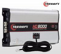 Taramp's Hd8000 2 Ohms Mono Amplifier 8000 W Rms 14.4 Volts Compact Taramps Amp