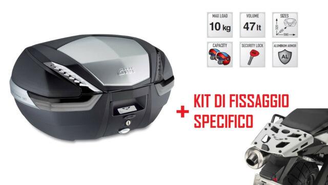 V47NT GIVI BAULETTO MONOKEY® 47L + KIT FISSAGGIO per BMW F 650 GS 2011 2012 2013