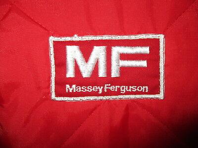 Offen Vtg 80er Jahre Massey Ferguson Nylon Weste Traktor Landwirtschaft Equipment Logo