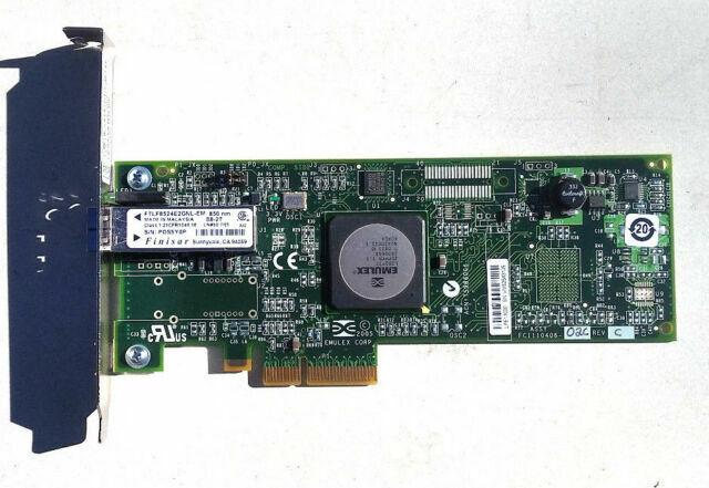 LOT OF 3 Emulex LPE11000 4GB PCIe Single Port Fibre Channel Host Bus Adapter HBA