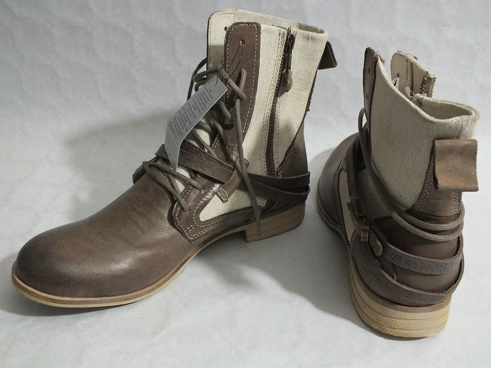 Zapatos de mujer baratos zapatos de mujer Botines botas bunker de cuero bunker botas + sustancia plana marrón claro Taupe b52383